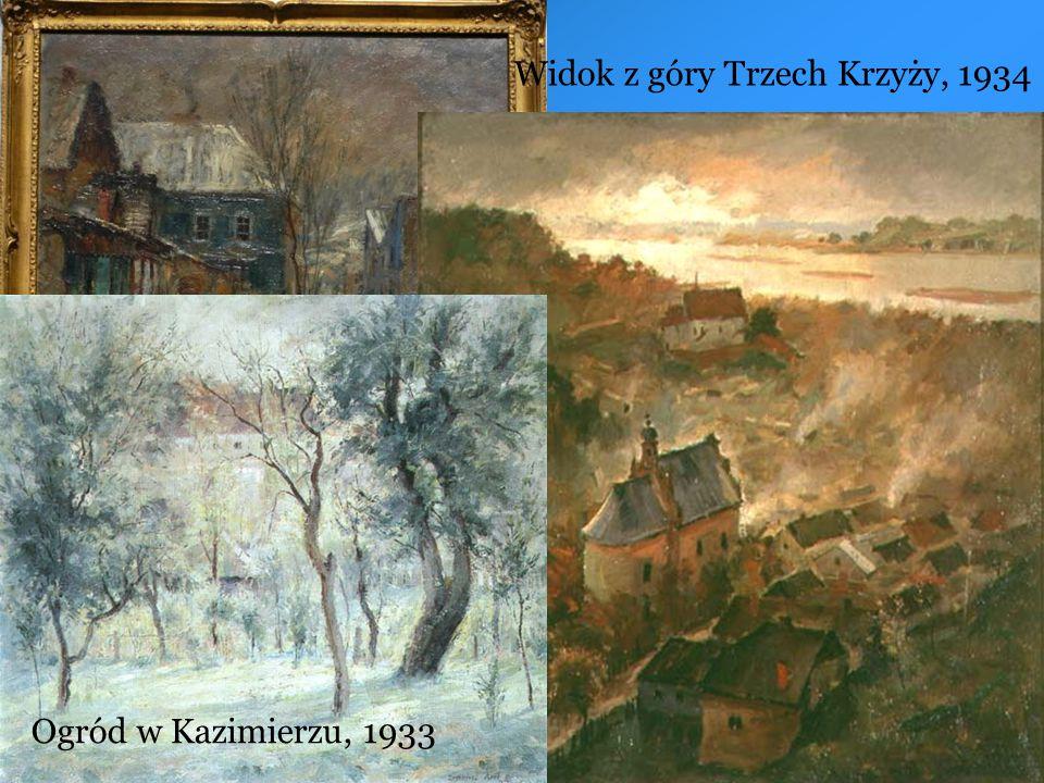 Ogród w Kazimierzu, 1933 Widok z góry Trzech Krzyży, 1934