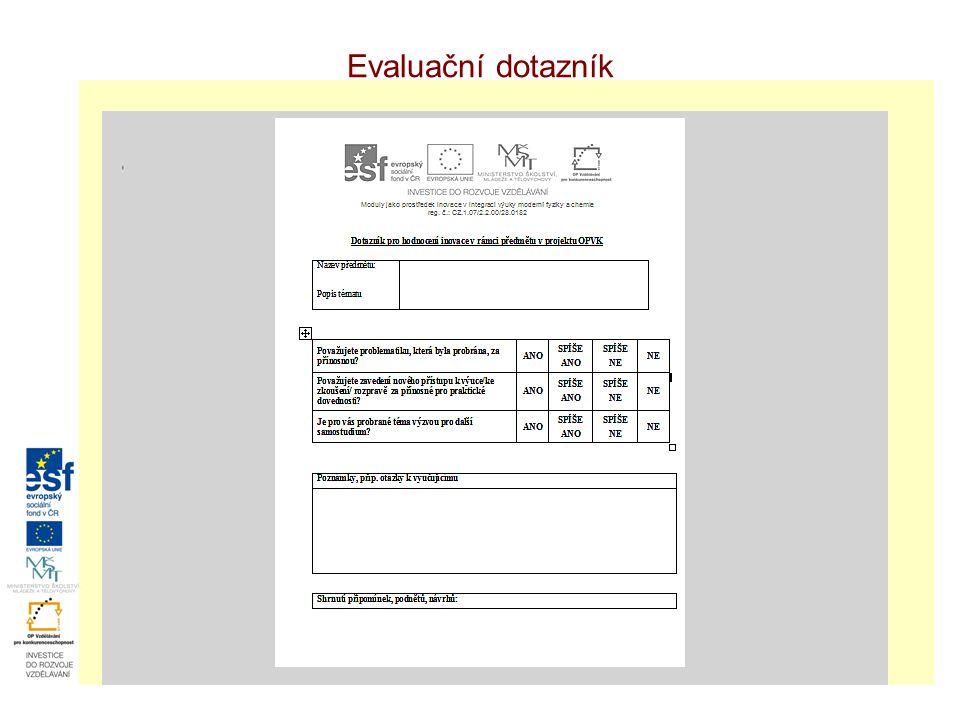 Evaluační dotazník