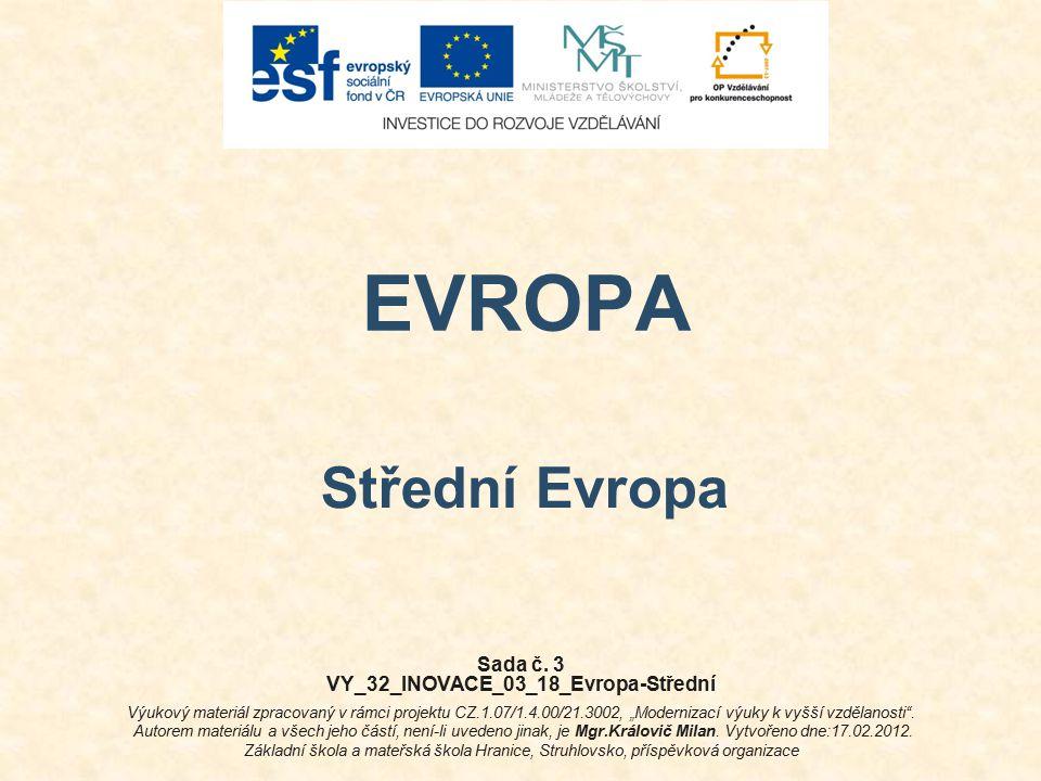EVROPA Střední Evropa Sada č.