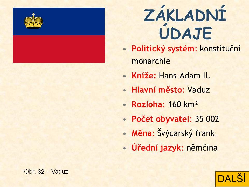 Politický systém: konstituční monarchie Kníže: Hans-Adam II.