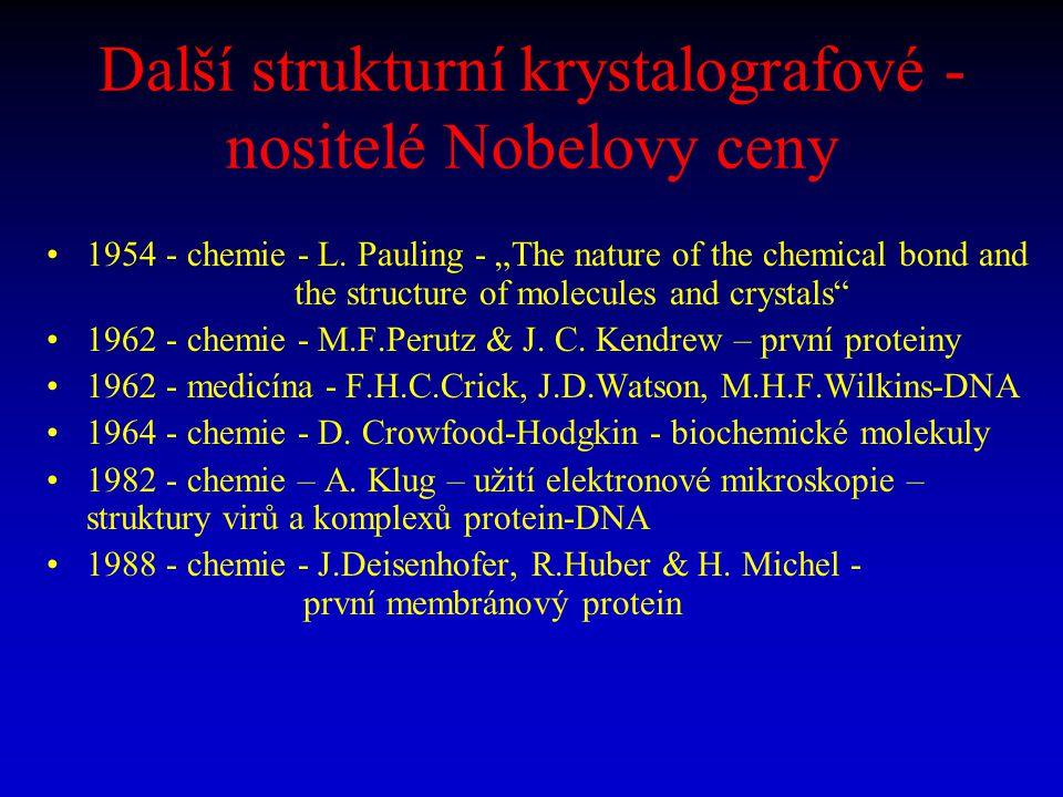 Strukturní (bio)krystalografové - nositelé Nobelovy ceny po roce 2000 2003 - chemie (1/2) - R.