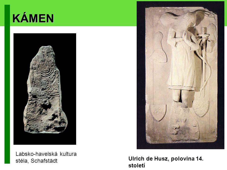 KÁMEN Labsko-havelská kultura stéla, Schafstädt Ulrich de Husz, polovina 14. století