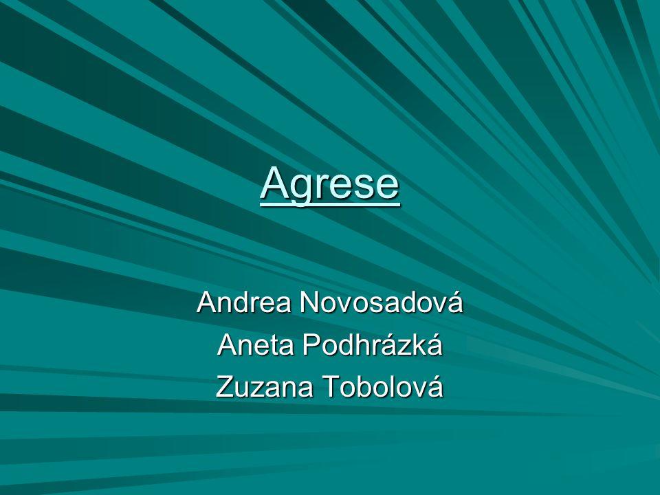 Agrese Andrea Novosadová Aneta Podhrázká Zuzana Tobolová