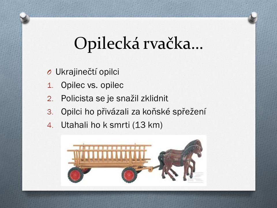 Opilecká rvačka… O Ukrajinečtí opilci 1. Opilec vs.