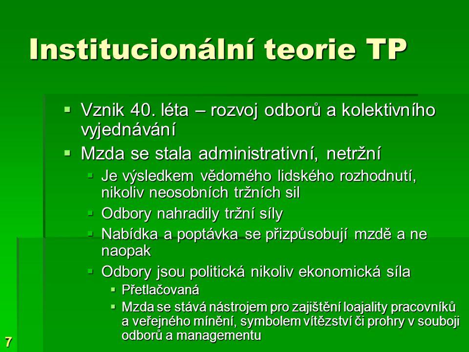 7 Institucionální teorie TP  Vznik 40.