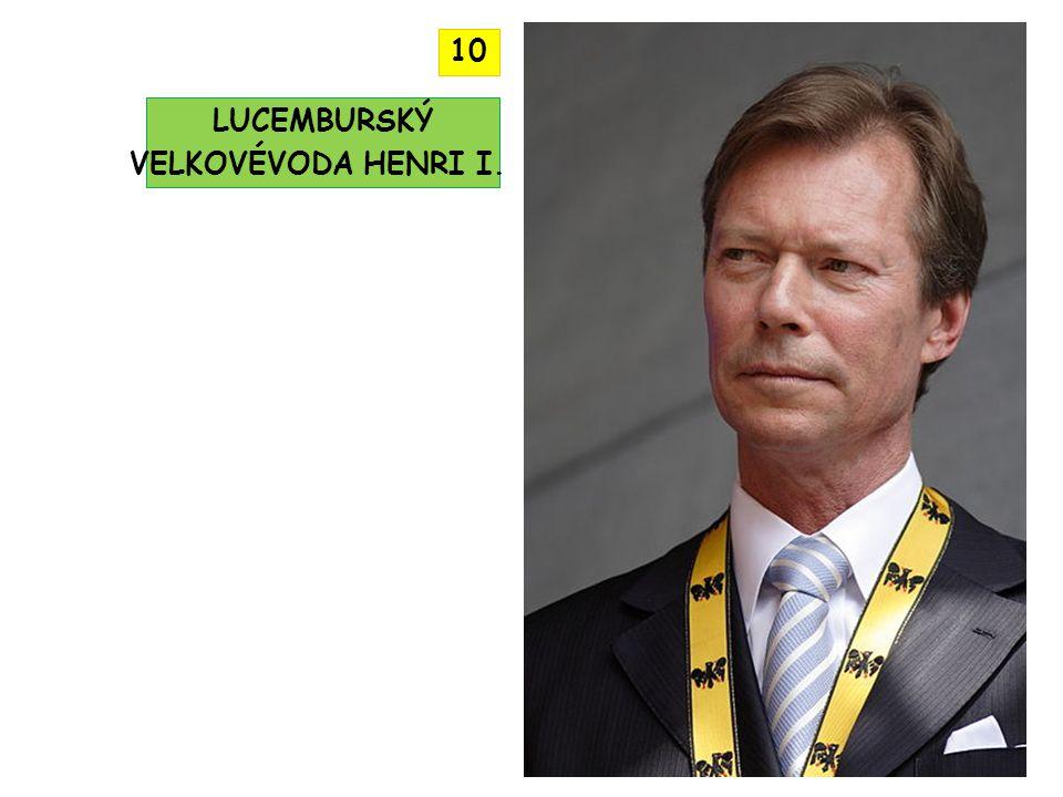 LUCEMBURSKÝ VELKOVÉVODA HENRI I. 10