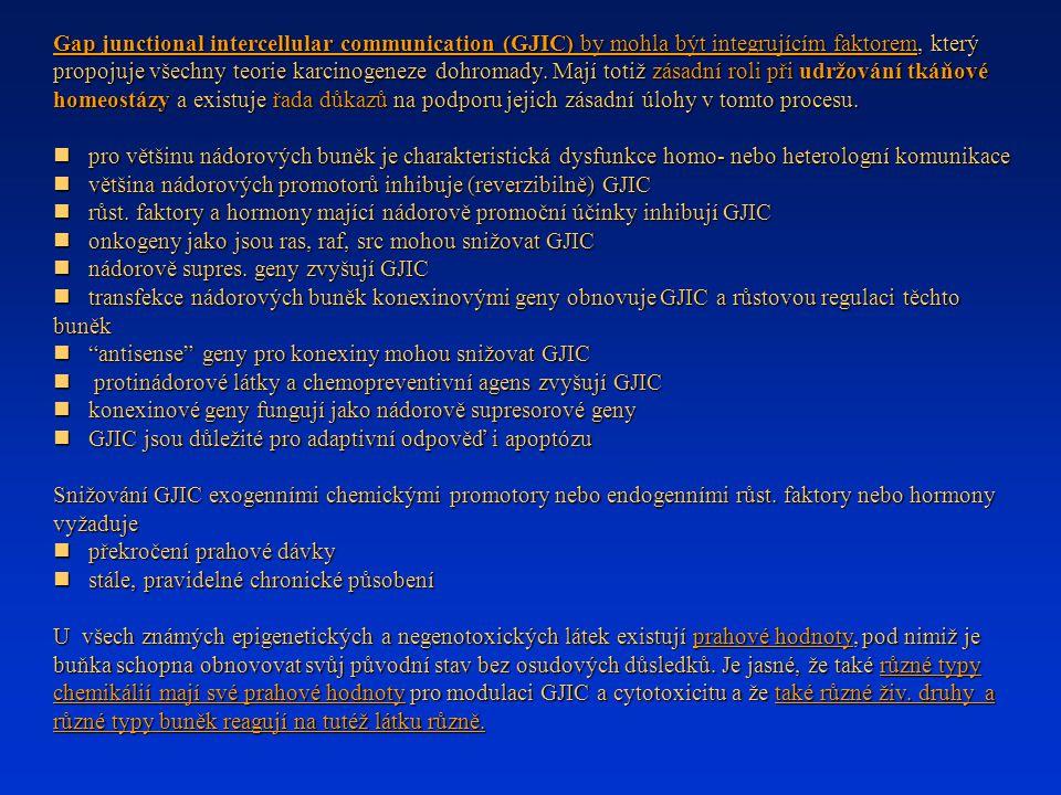 Gap junctional intercellular communication (GJIC) by mohla být integrujícím faktorem, který propojuje všechny teorie karcinogeneze dohromady.