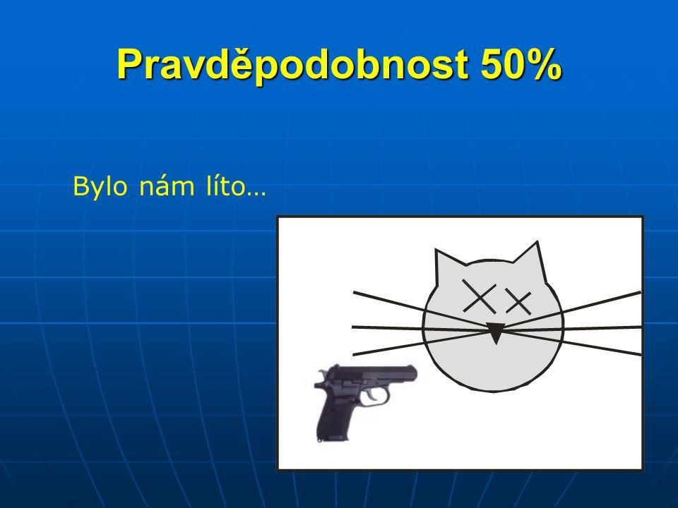 Pravděpodobnost 50% Bylo nám líto…