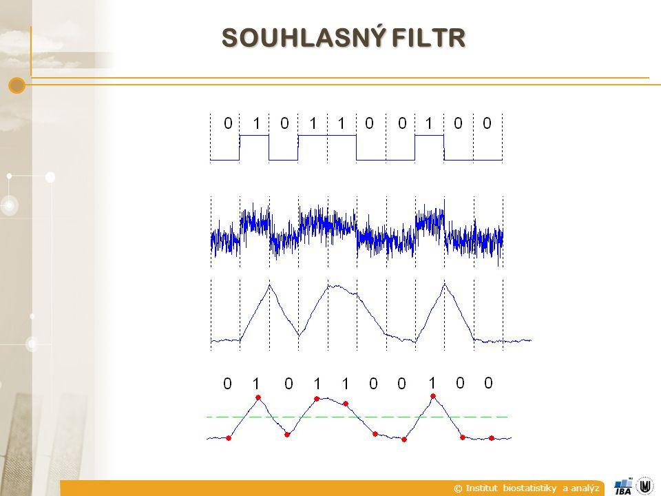 © Institut biostatistiky a analýz SOUHLASNÝ FILTR