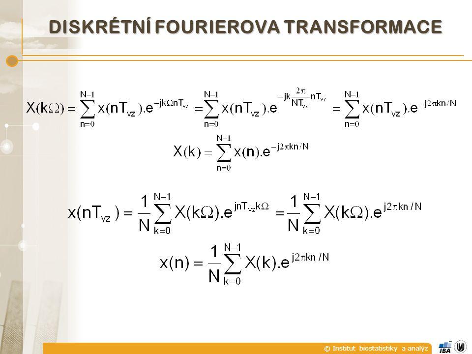 © Institut biostatistiky a analýz DISKRÉTNÍ FOURIEROVA TRANSFORMACE