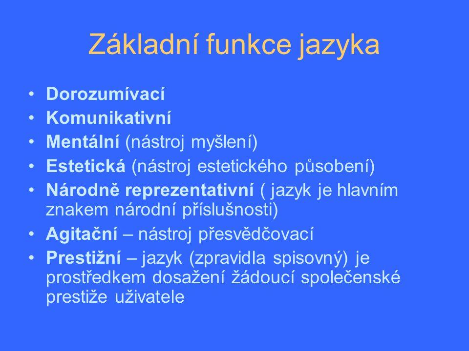 Jazyk a společnost Jazyk je vázán na určité společenství, nejčastěji národ, který se jím dorozumívá. Jazyk slouží jako nejdůležitější znak vyjadřování