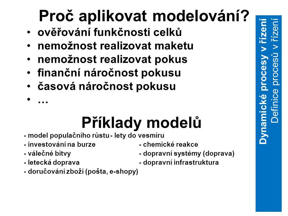 5 Proč aplikovat modelování.