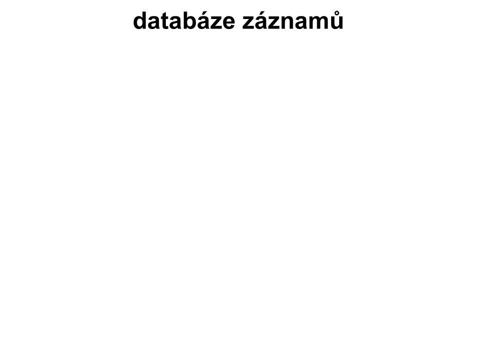 databáze záznamů