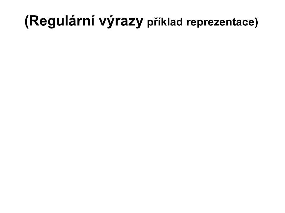 (Regulární výrazy příklad reprezentace)