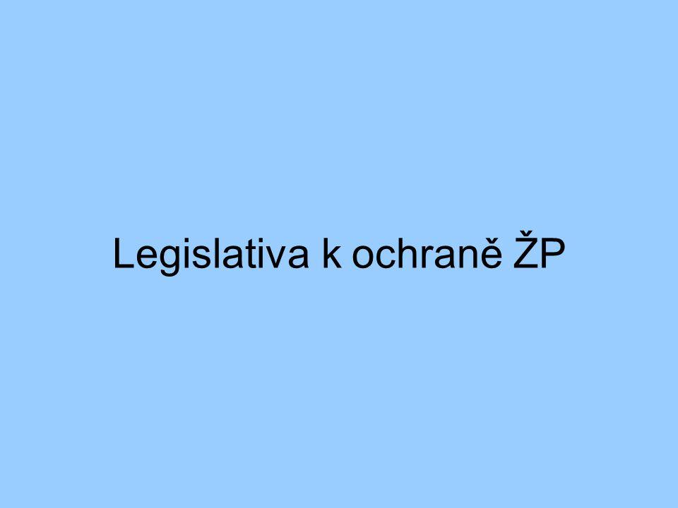 Legislativa k ochraně ŽP