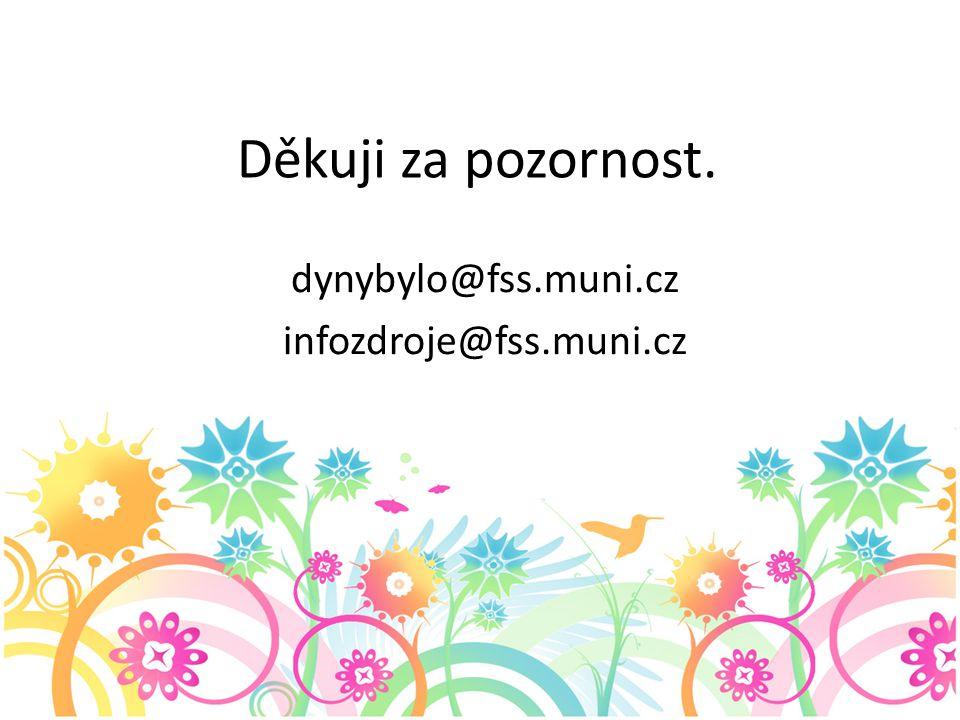 Děkuji za pozornost. dynybylo@fss.muni.cz infozdroje@fss.muni.cz