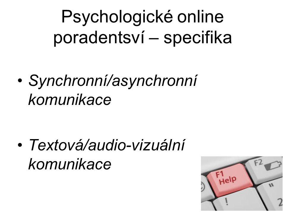 E) Online skupiny Možnost využívání speciálně vytvořených chatových místností, videokonferencí nebo diskusních fór za účelem skupinové psychoterapie Svépomocné skupiny (Al-anon a jiné)