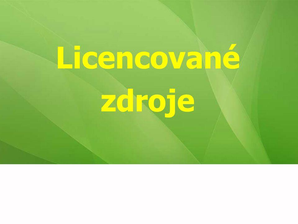 Licencované zdroje