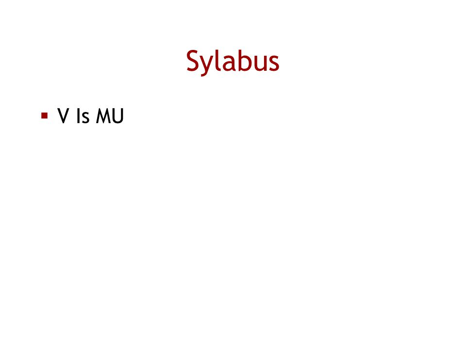 Sylabus  V Is MU
