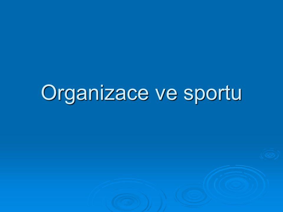 Organizace ve sportu