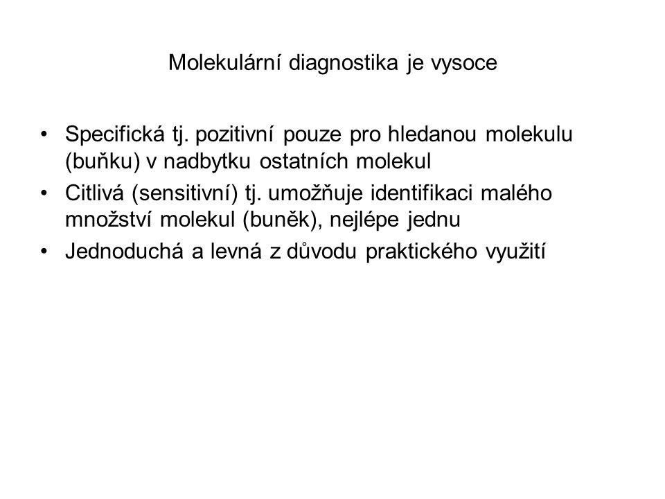 Molekulární diagnostika je vysoce Specifická tj.