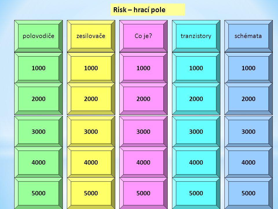 polovodičezesilovačeCo je?tranzistoryschémata 1000 2000 3000 4000 5000 Risk – hrací pole