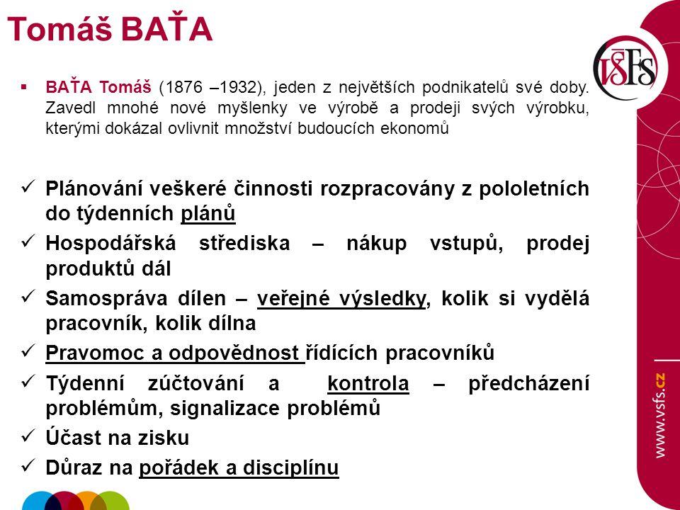  BAŤA Tomáš (1876 –1932), jeden z největších podnikatelů své doby. Zavedl mnohé nové myšlenky ve výrobě a prodeji svých výrobku, kterými dokázal ovli