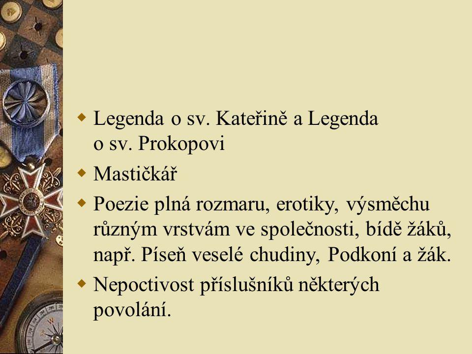  Legenda o sv. Kateřině a Legenda o sv.
