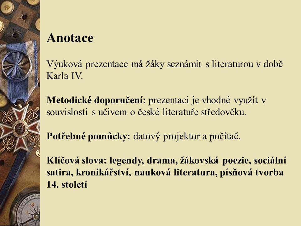 Další význačné osobnosti  Smil Flaška z Pardubic  Jan z Jenštejna Tkadleček – vrcholná skladba české umělecké prózy, o problémech filozofických a teologických.