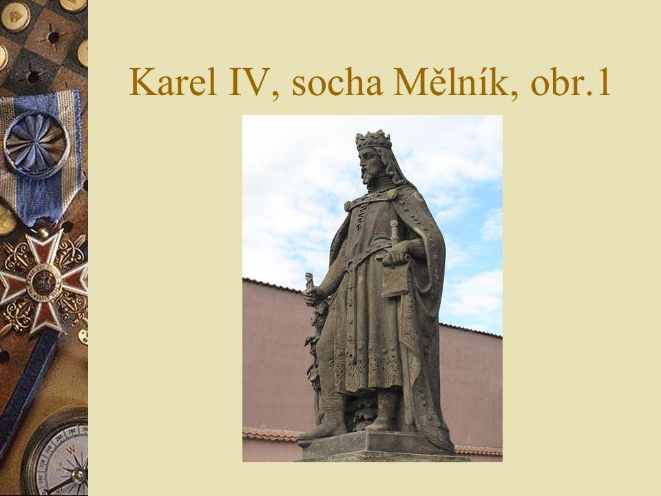 Karel IV, socha Mělník, obr.1