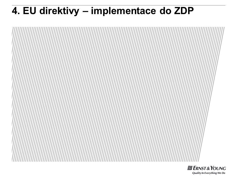 4. EU direktivy – implementace do ZDP