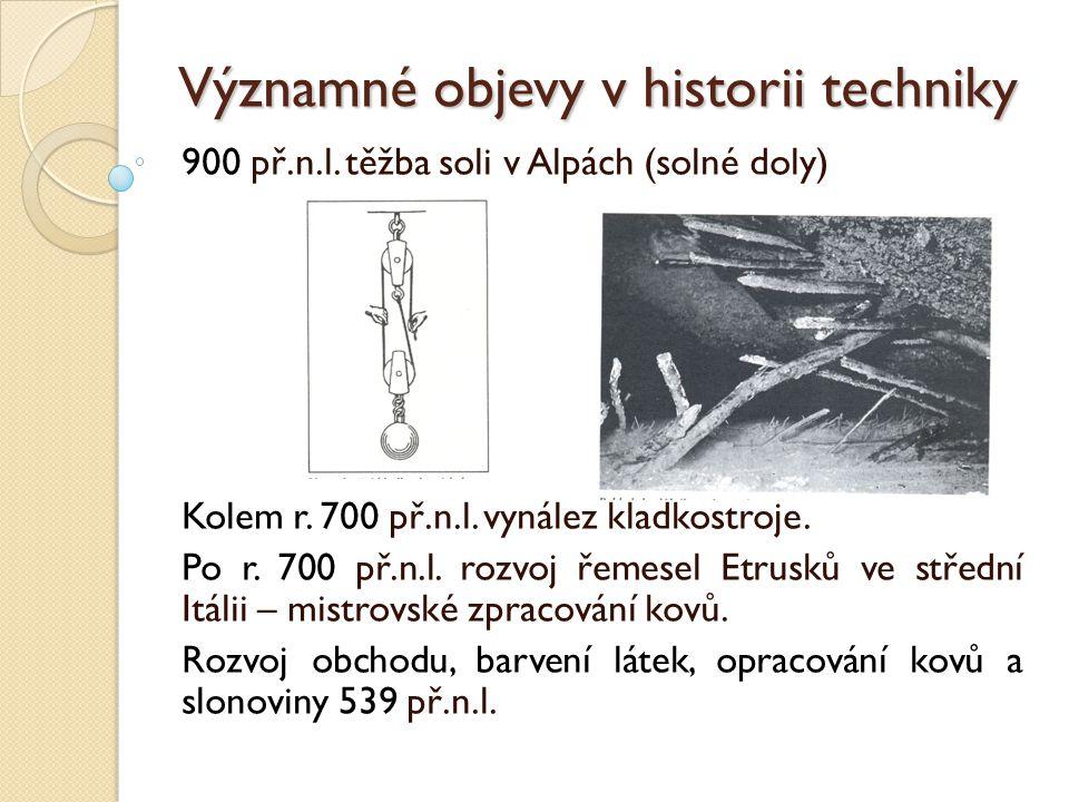 Významné objevy v historii techniky Řecko: Kolébka evropské vzdělanosti, hrnčířský kruh 1.