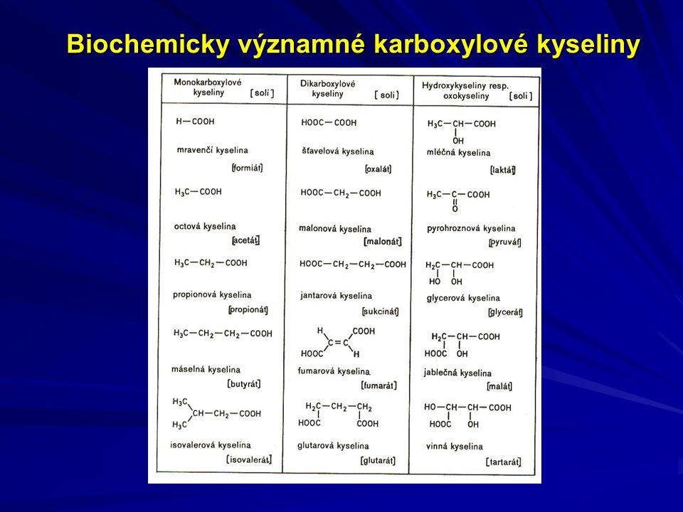Biochemicky významné karboxylové kyseliny