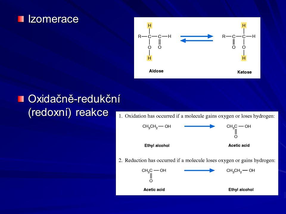 Izomerace Oxidačně-redukční (redoxní) reakce