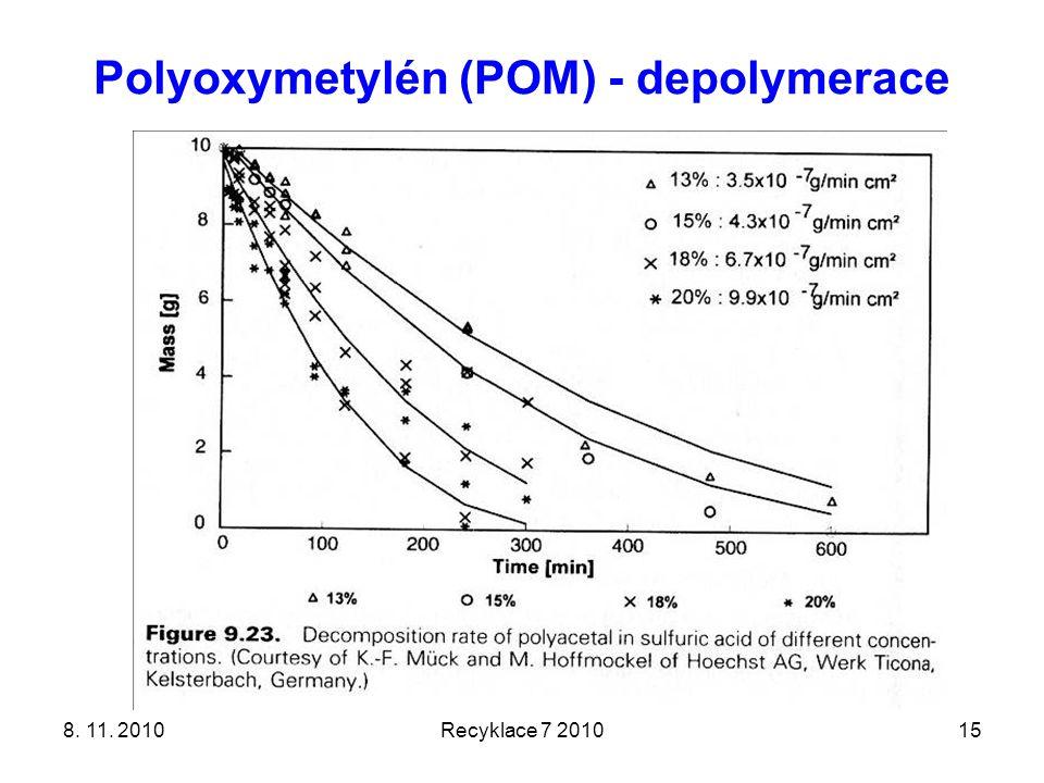 Polyoxymetylén (POM) - depolymerace 8. 11. 2010Recyklace 7 201015