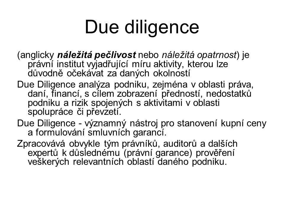 Due diligence (anglicky náležitá pečlivost nebo náležitá opatrnost) je právní institut vyjadřující míru aktivity, kterou lze důvodně očekávat za danýc