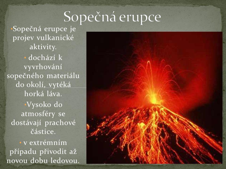 Sopečná erupce je projev vulkanické aktivity.