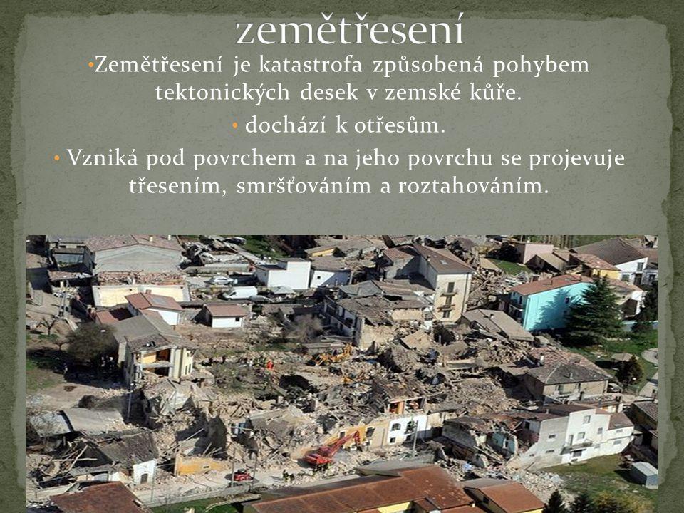 Přírodní katastrofy nejsou přímo zapříčiněny člověkem, tvoří je sama příroda.