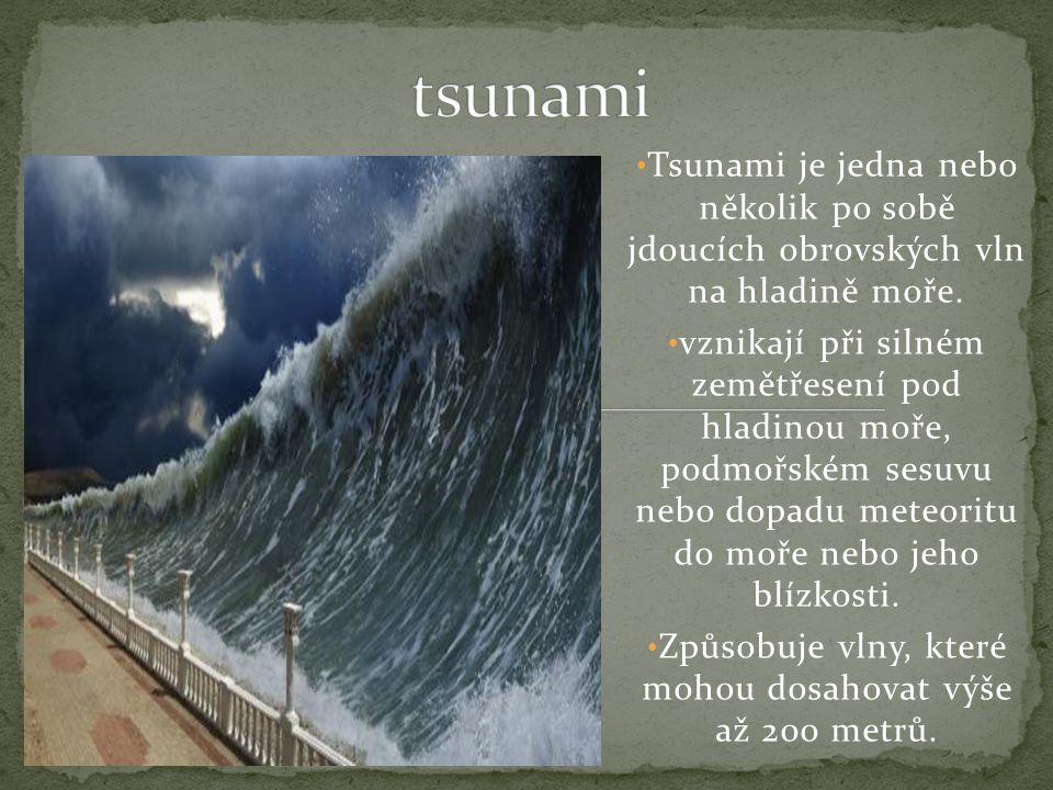 Tsunami je jedna nebo několik po sobě jdoucích obrovských vln na hladině moře.