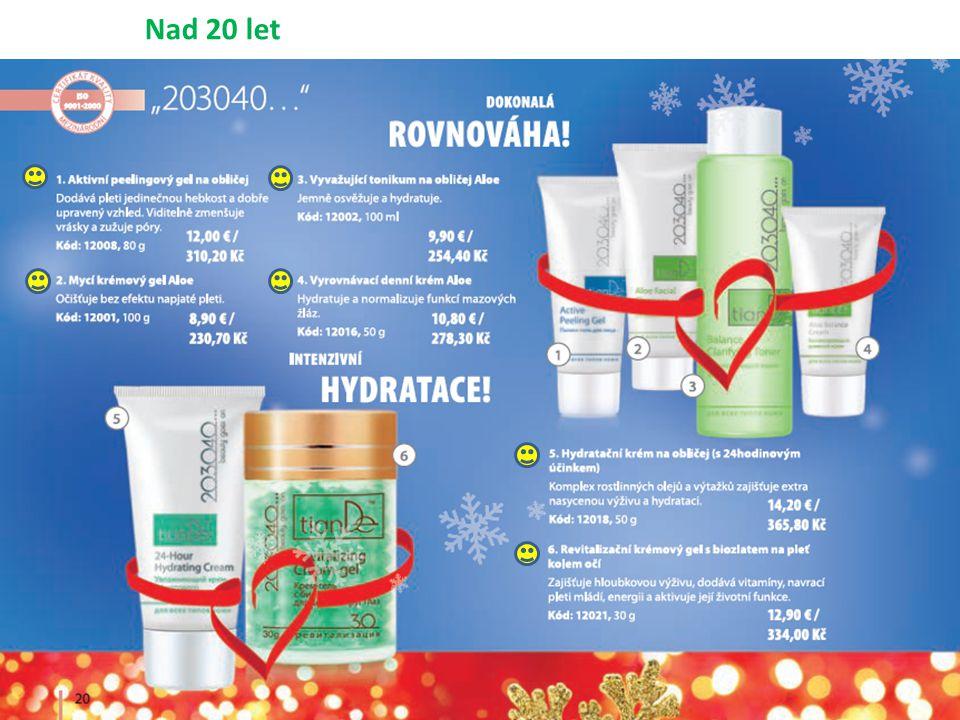 Nad 55 let – Zhenfei Perfect, Tibetan Herbs, Collagen Active, Marine Collagen + 2 až 3 krát ročně aplikovat NANO CORRECTOR