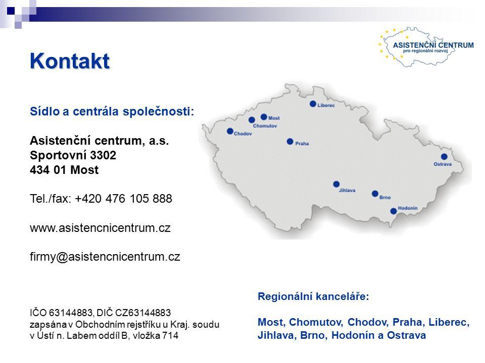 Kontakt Sídlo a centrála společnosti: Asistenční centrum, a.s.