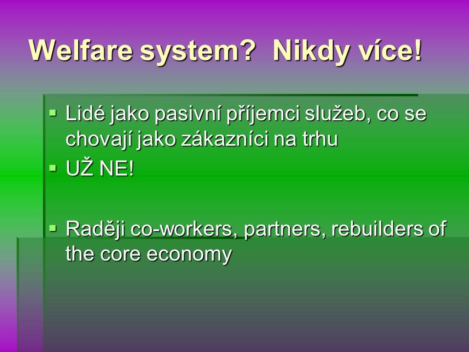 Welfare system. Nikdy více.
