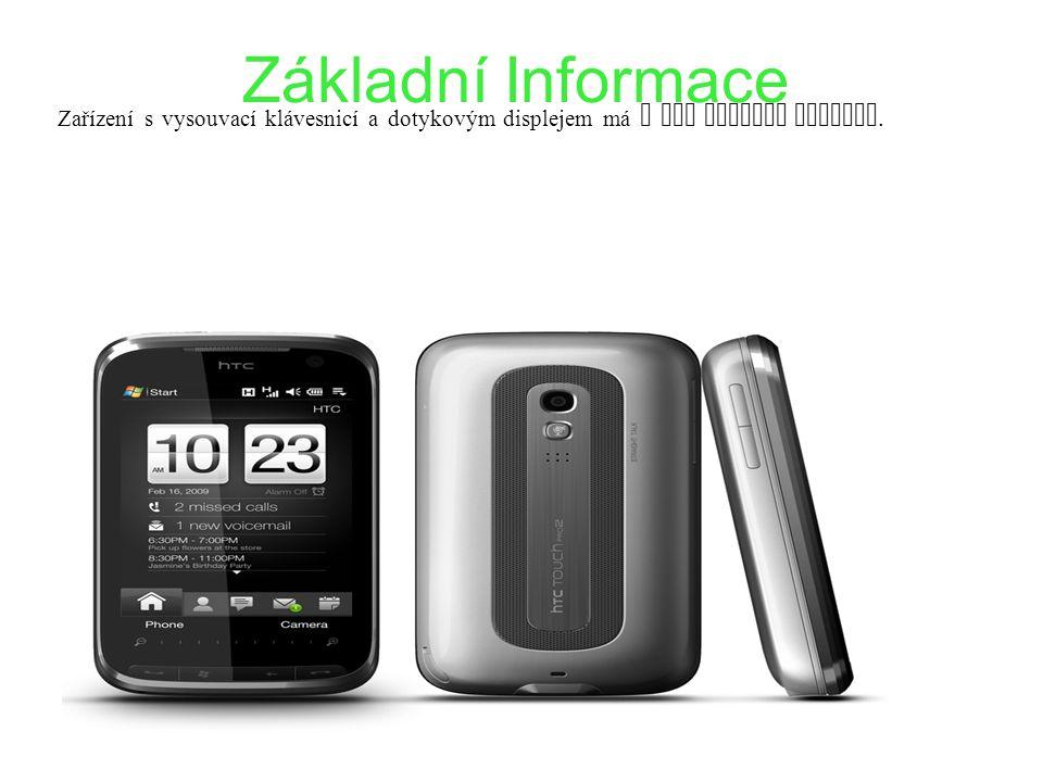 Základní Informace Zařízení s vysouvací klávesnicí a dotykovým displejem má u HTC dlouhou tradici.