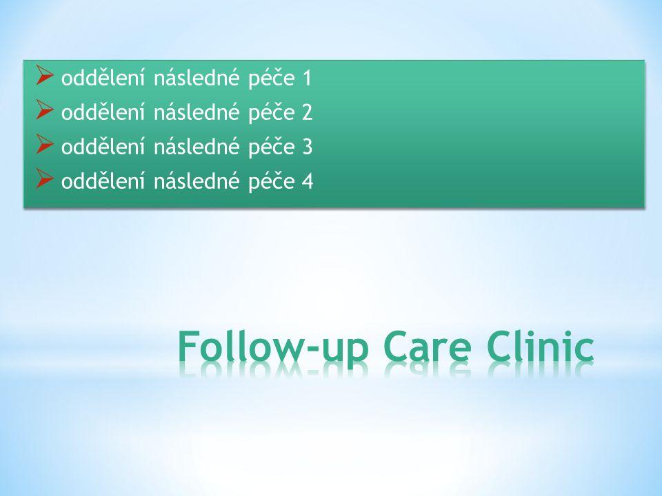  oddělení následné péče 1  oddělení následné péče 2  oddělení následné péče 3  oddělení následné péče 4  oddělení následné péče 1  oddělení následné péče 2  oddělení následné péče 3  oddělení následné péče 4