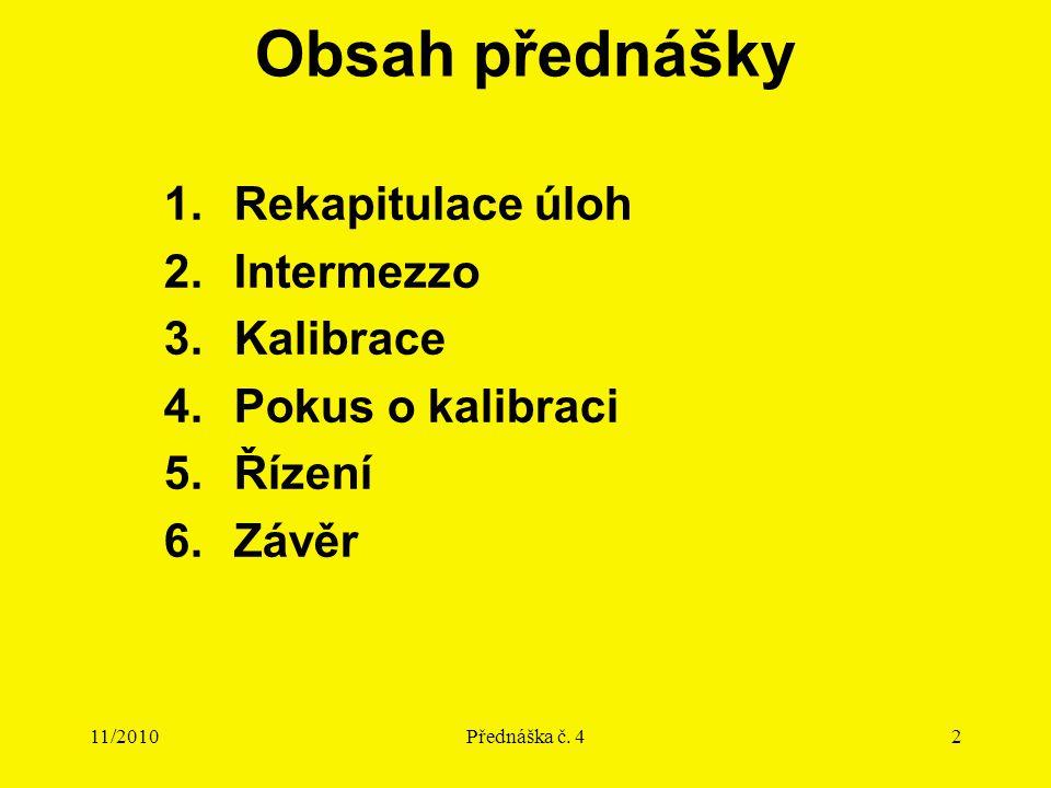 11/2010Přednáška č.