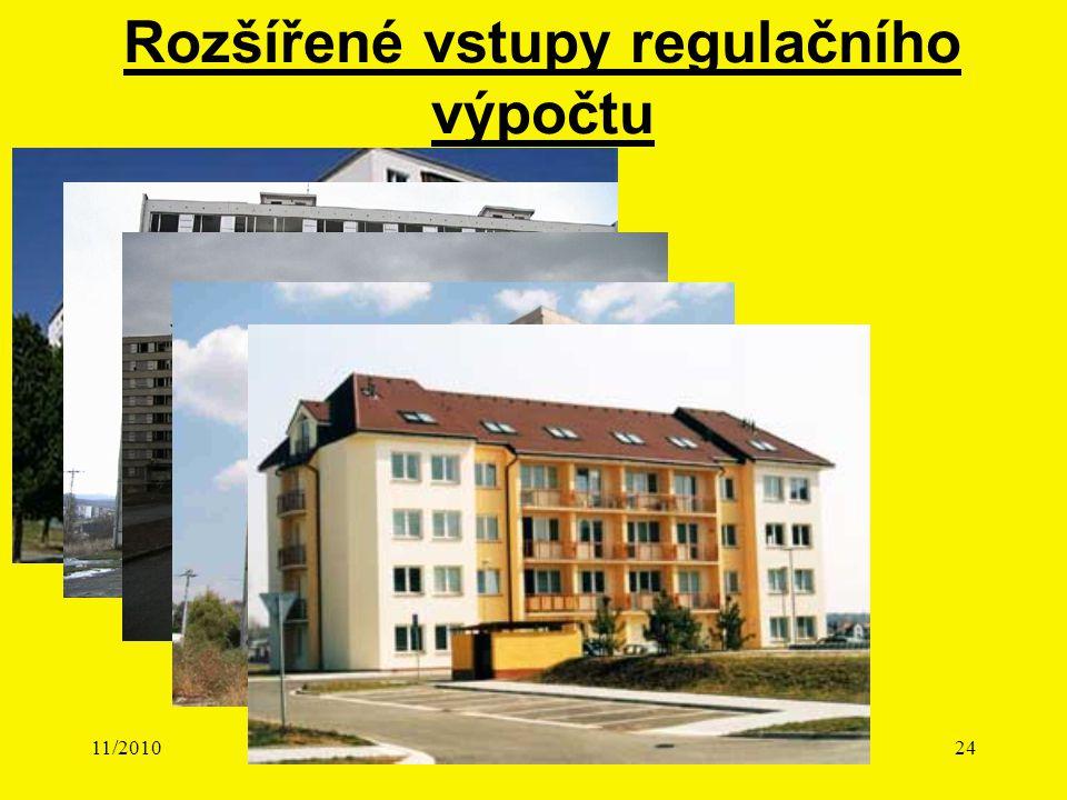 11/2010Přednáška č. 424 Rozšířené vstupy regulačního výpočtu