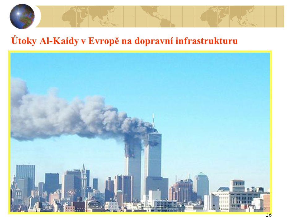 26 Útoky Al-Kaidy v Evropě na dopravní infrastrukturu