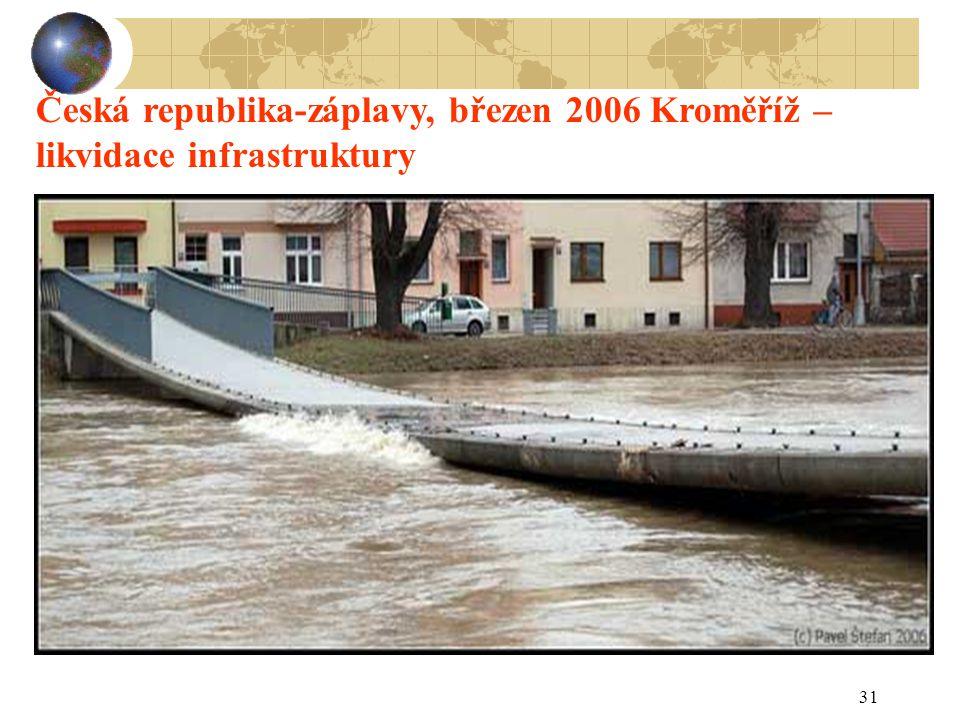 31 Česká republika-záplavy, březen 2006 Kroměříž – likvidace infrastruktury