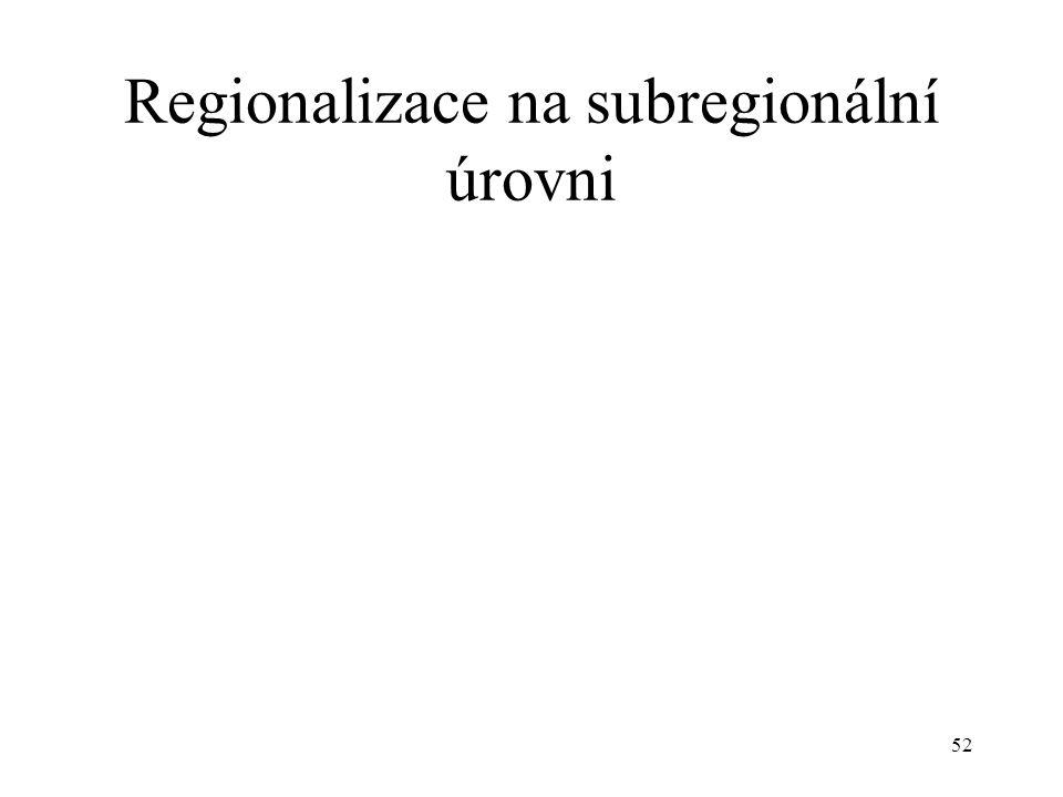 52 Regionalizace na subregionální úrovni