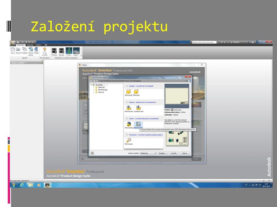 Založení projektu